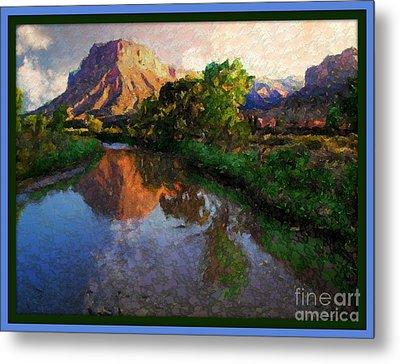 Gateway Colorado Mesa By River Metal Print by Annie Gibbons