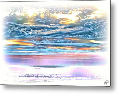 Metal Print featuring the photograph Gauzy Sunset by Walt Foegelle