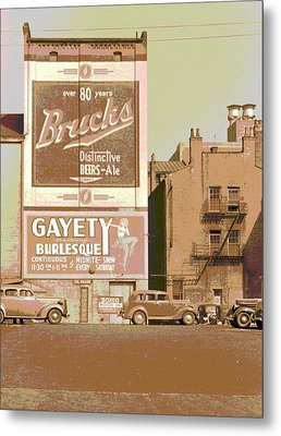 Gayety Burlesque Parking Metal Print by Padre Art