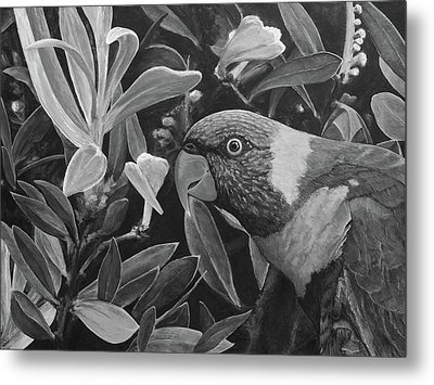 G'day Mate - Charcoal Metal Print by Julie Turner