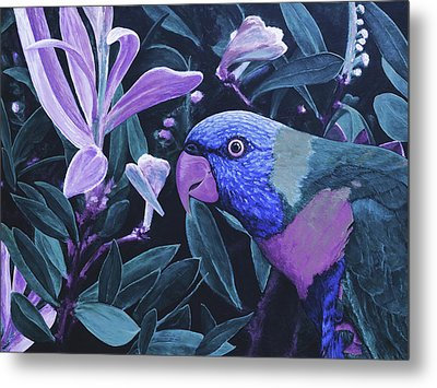 G'day Mate - Midnight Metal Print by Julie Turner