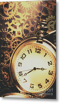 Gears Of Time Travel Metal Print