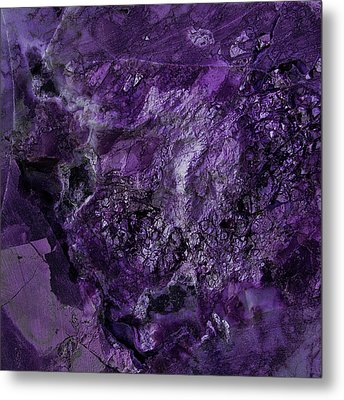 Gem 1 In Purple Metal Print by Sean Holmquist