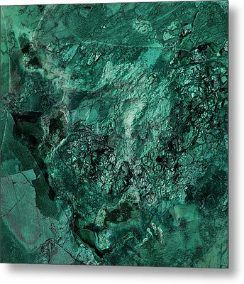 Gem 1 In Teal Metal Print by Sean Holmquist