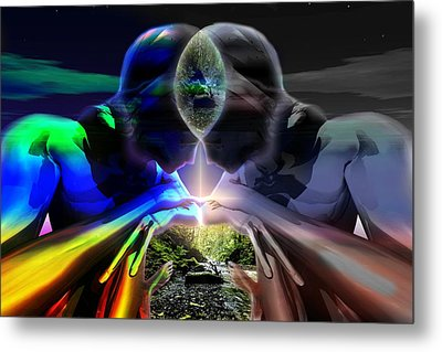 Metal Print featuring the digital art Gemini Dream by Shadowlea Is