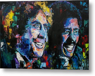 Metal Print featuring the painting Gene Wilder And Richard Pryor by Richard Day