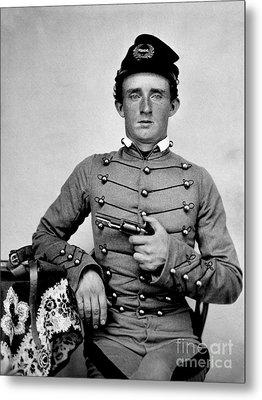 General Custer At West Point Ca 1859 Metal Print by Jon Neidert