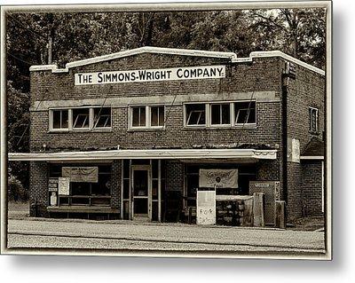 General Store - Vintage Sepia With Border Metal Print