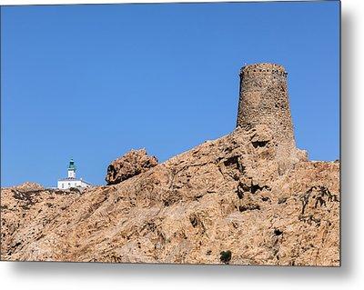 Genoese Tower L'ile Rousse - Corsica Metal Print