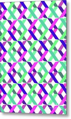 Geometric Crosses Metal Print