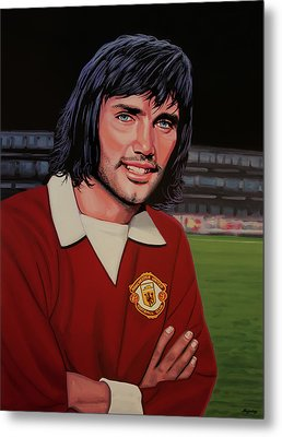 George Best Painting Metal Print by Paul Meijering