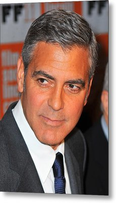 George Clooney At Arrivals For The Metal Print