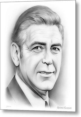 George Clooney Metal Print by Greg Joens