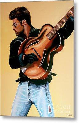 George Michael Painting Metal Print