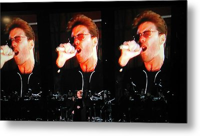 George Michael The Passionate Performer Metal Print by Toni Hopper