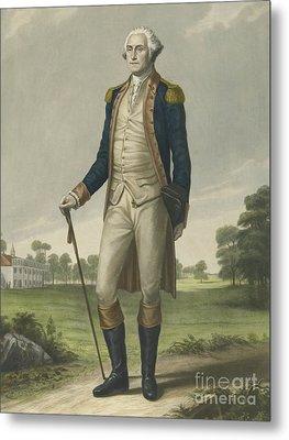 George Washington, 1859 Metal Print by Hezekiah Wright Smith