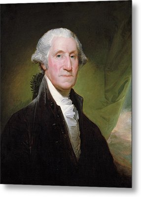 Metal Print featuring the painting George Washington Portrait by Gilbert Stuart
