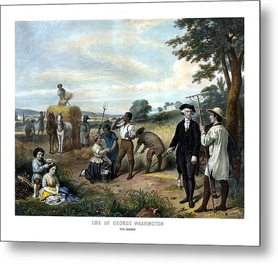 George Washington The Farmer Metal Print by War Is Hell Store