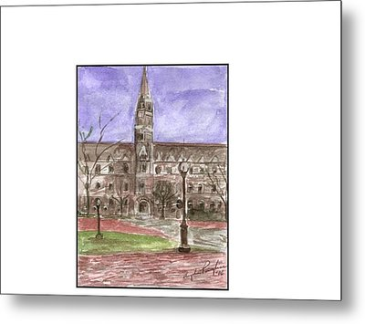 Georgetown University Healy View Metal Print by Angela Puglisi