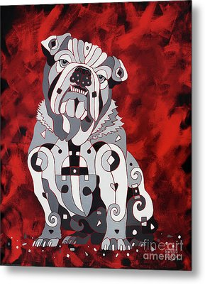 Georgia Bull Dog Metal Print
