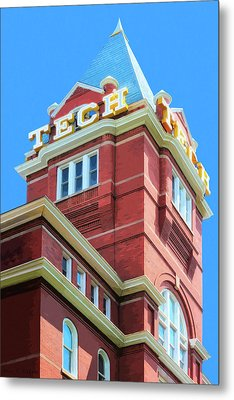 Metal Print featuring the digital art Georgia Tech Tower by Mark Tisdale