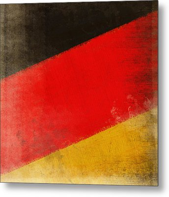 German Flag Metal Print