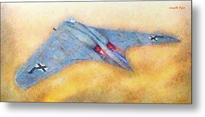 German Flying Wing - Pa Metal Print by Leonardo Digenio