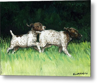 German Shorthaired Pointer Pups Metal Print