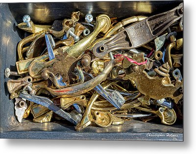 Get A Handle On It Metal Print by Christopher Holmes
