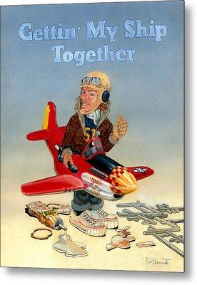 Gettin My Ship Together Metal Print by Ben Bensen III