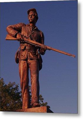 Gettysburg Statue Metal Print by Eric  Schiabor