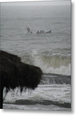 Metal Print featuring the photograph Ghana Fishermen by Erik Falkensteen