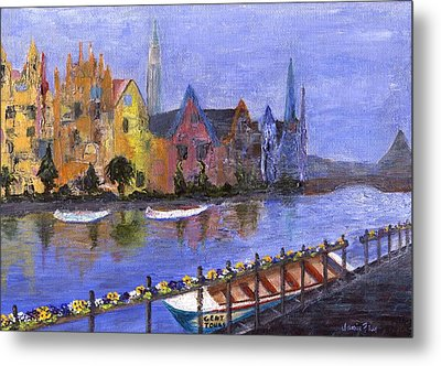 Metal Print featuring the painting Ghent by Jamie Frier