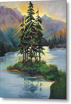 Ghost Island Near Jasper Metal Print