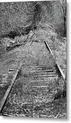 Metal Print featuring the photograph Ghost Rail by Juls Adams