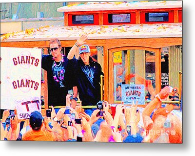 Giants 2010 Champions Parade 2 . Photo Artwork Metal Print by Wingsdomain Art and Photography