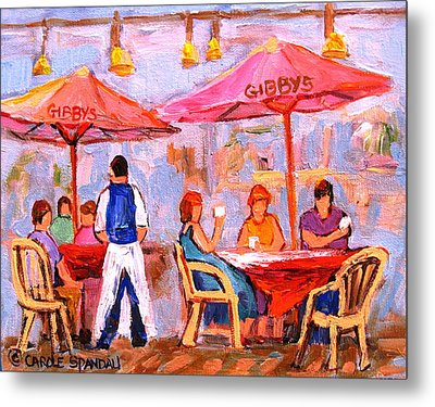 Metal Print featuring the painting Gibbys Cafe by Carole Spandau