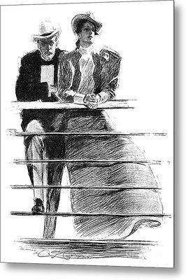 Gibson: Couple, 1897 Metal Print