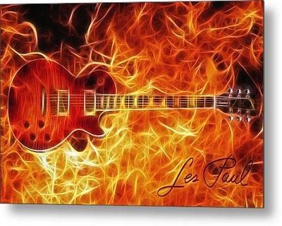 Gibson Les Paul Metal Print by Taylan Apukovska