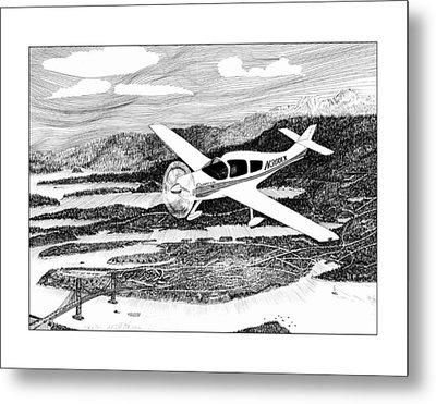 Gig Harbor Flyover Metal Print by Jack Pumphrey