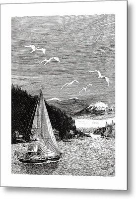 Gig Harbor Sailing School Metal Print by Jack Pumphrey