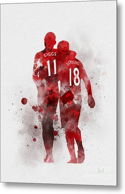 Giggsy And Scholesy Metal Print