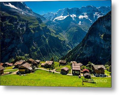 Gimmelwald In Swiss Alps - Switzerland Metal Print