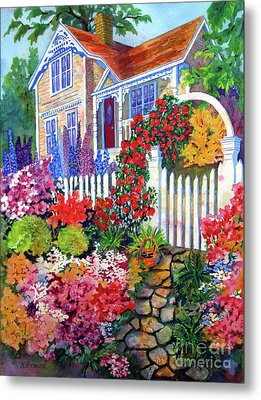 Gingerbread In Bloom Metal Print