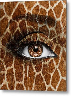 Giraffe Metal Print by Yosi Cupano
