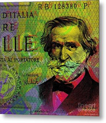 Giuseppe Verdi Portrait Banknote Metal Print