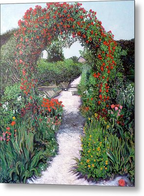 Giverney Garden Path Metal Print by Tom Roderick
