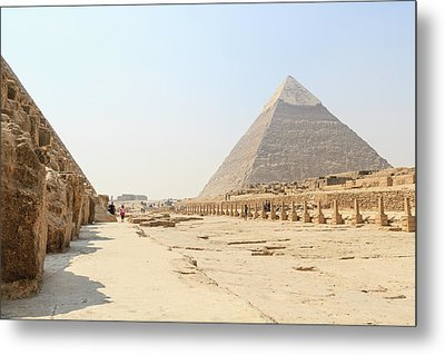 Metal Print featuring the photograph Giza by Silvia Bruno