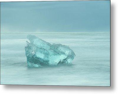 Glacial Iceberg Seascape. Metal Print by Andy Astbury