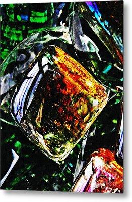 Glass Abstract 160 Metal Print by Sarah Loft